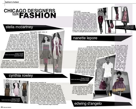 Fashion Layout Templates by Akgdesign Magazine Layout