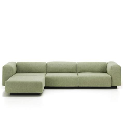 modular sofa with chaise vitra soft modular sofa three seater with chaise jasper