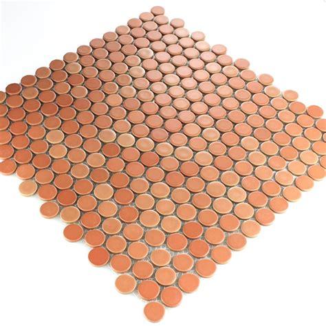 mosaikfliesen rund keramik knopf mosaikfliese rund terracotta tm33103m