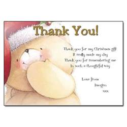Thank You Letter Xmas Gift Christmas Kiss Thank You Notes
