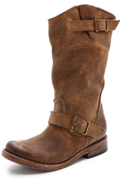 freebird by steven crosby flat buckle boots in brown lyst