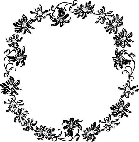 tattoo berwarna png border flowers free stock photo illustration of a