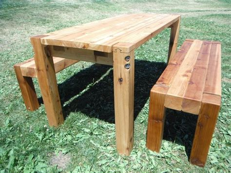 outdoor farm table and bench bolt cedar patio table benches farmhouse patio