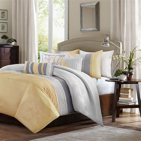 madison park amherst comforter set amherst yellow by madison park beddingsuperstore com