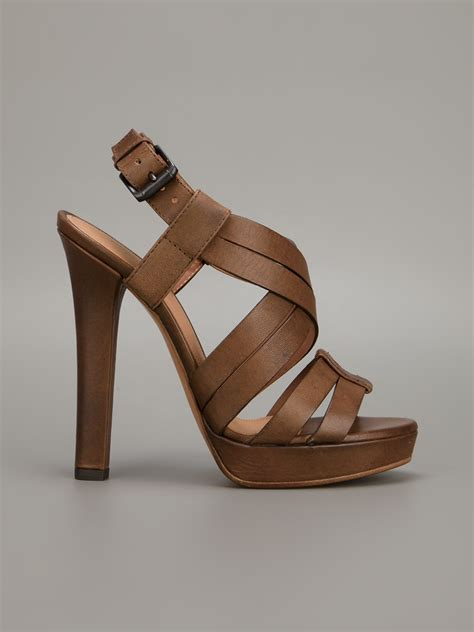 strappy brown sandals strappy brown heels ha heel