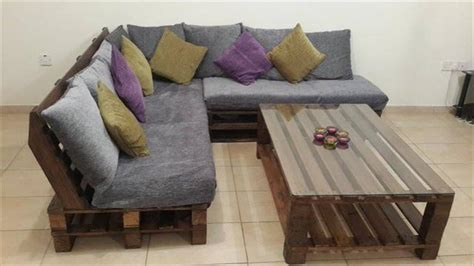 diy living room furniture diy pallet l shaped sofa coffee table for living room