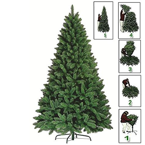 premium green artificial christmas xmas tree pine metal