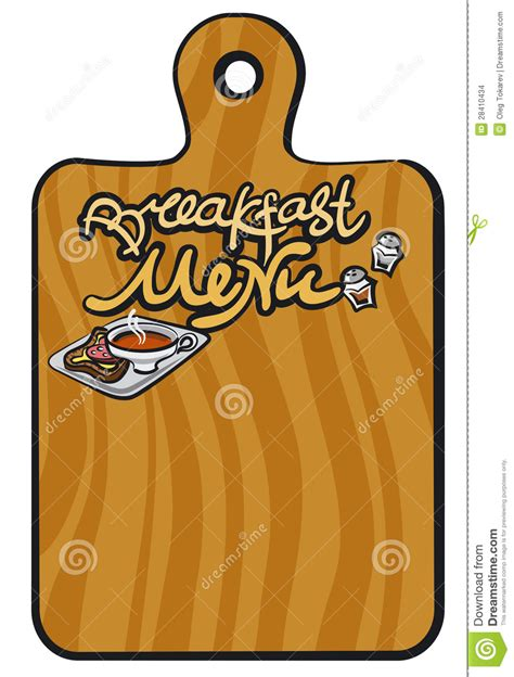 breakfast menu background stock images image 28410434