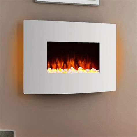egton white wall mounted electric fire endeavour fires