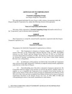 Certificate Of Incorporation Template by 28 Sle Articles Of Incorporation Company