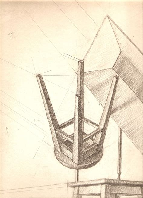 Dessin De Chaise En Perspective by Free Illustration Drawing Perspective Pencil Chair