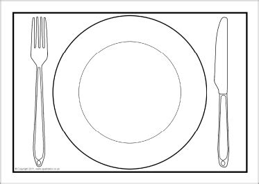 dinner plate a4 editable templates sb4904 sparklebox