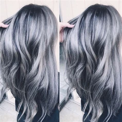 formula blue gray sombre hair color modern salon blue on grey hair shoo before and after blue on grey