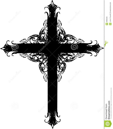 ornate cross silhouette royalty free stock image image