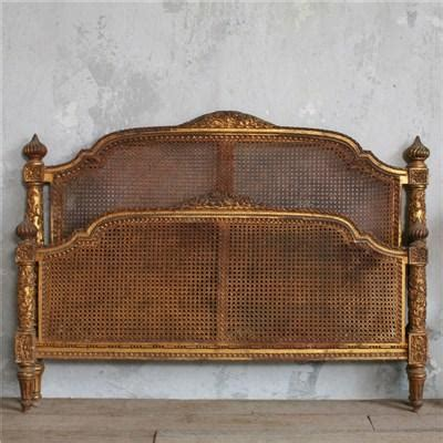 retro headboard one of a kind vintage cane headboard gold gilt