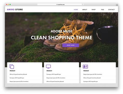 adobe muse template free