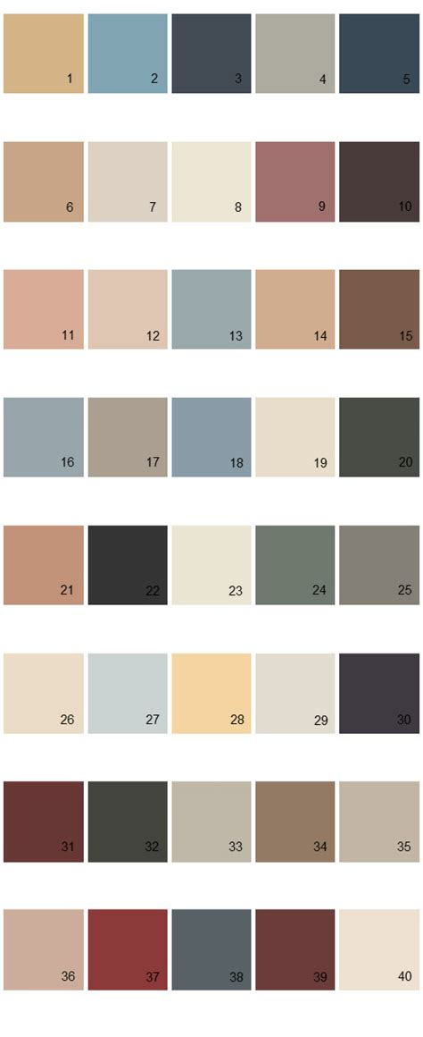 behr paint colors palette 20 house paint colors