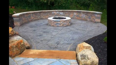 creative sted concrete patio design