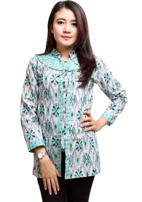 Baju Wanita Modern baju batik kantor wanita modern terbaru 2017 pica model baju batik