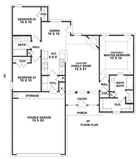 english cottage house plan with 1300 square feet and 3 37 best 1300 square foot plans images on pinterest small