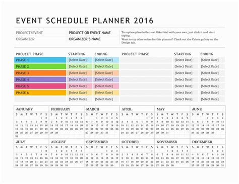 5 best images of party event printable planner party free digital or printable calendar templates for microsoft