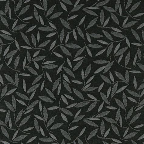 Black And Grey Upholstery Fabric by Black And Grey Floral Leaf Contract Grade Upholstery