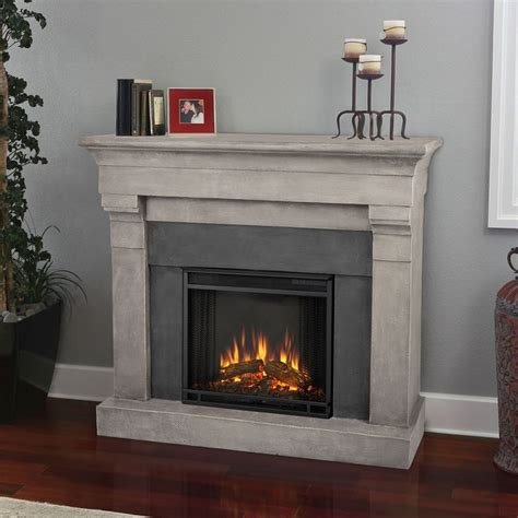 portable fireplace real flame torrence cinder stone electric cast fireplace