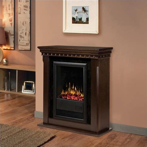 transitional fireplace dimplex bravado ii indoor electric fireplace in espresso