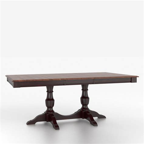 Custom Dining Table Canadel Custom Dining Tables Tre036682812mxpa1 Customizable Rectangular Table With Pedestal