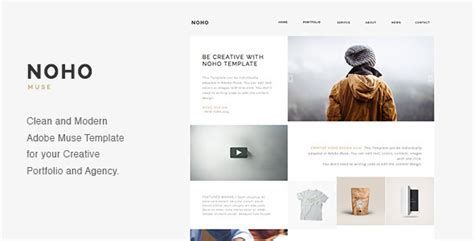 noho creative agency portfolio muse template by