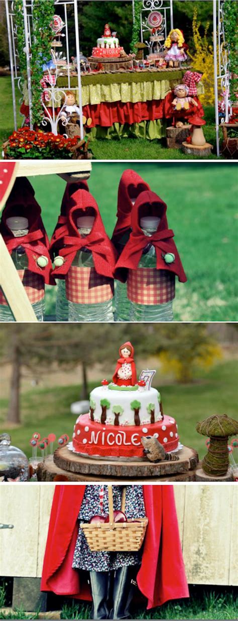 birthday themes in red kara s party ideas little red riding hood fairytale girl
