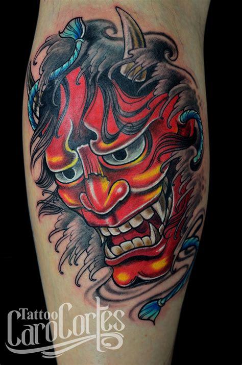 tattoo oriental demonio hanya caro cortes colombian tattoo artist carocortes