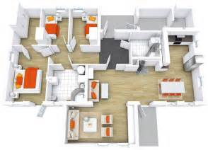 modern home plan modern house floor plans roomsketcher