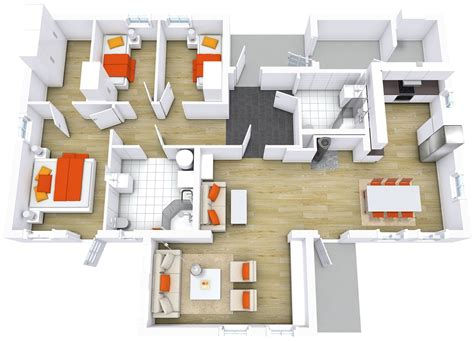 home design plans ground floor 3d modern house floor plans roomsketcher