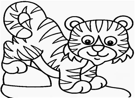 Baby Tiger Outline by Baby Tiger Coloring Pages Coloring Home