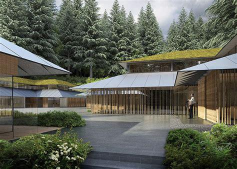 Federal Style House kengo kuma designs cultural village for portland japanese