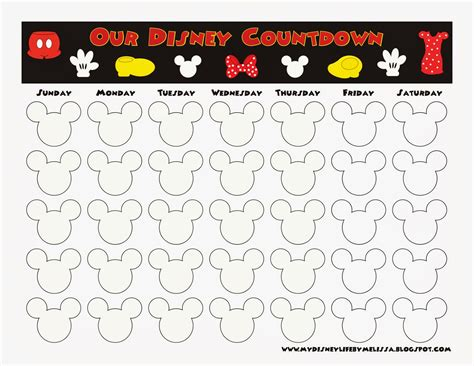 printable countdown calendar template disney countdown calendar printable calendar template 2016