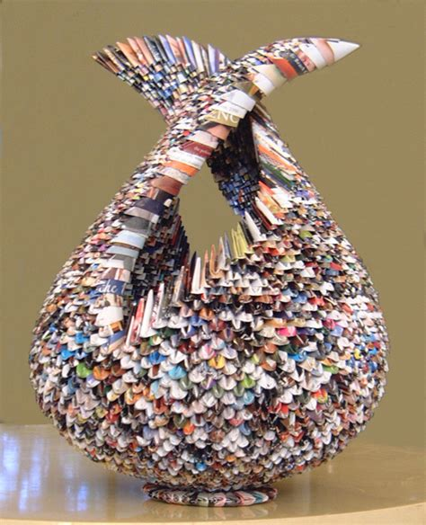 recycle paper crafts living simply and green 11 cool things made from recycled