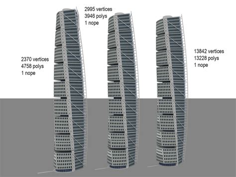turning torso section 3d turning torso