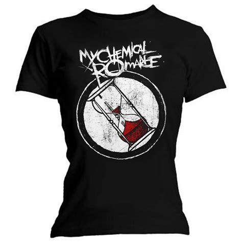 T Shirt Mcr official t shirt my chemical hourglass logo
