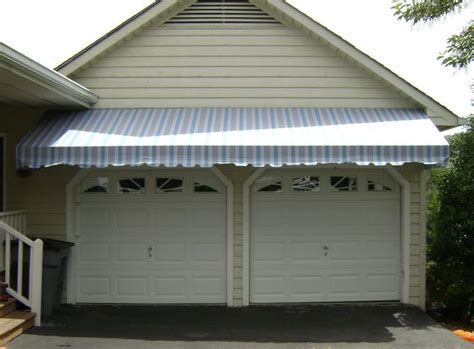 garage awnings awning over garage door wageuzi