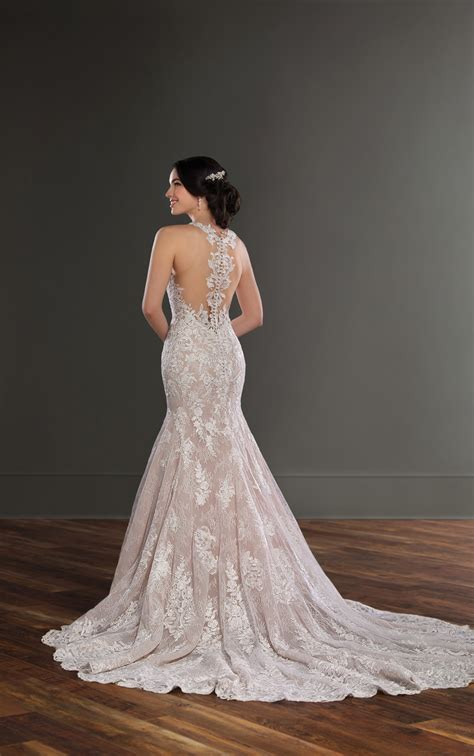 High Wedding Dresses by Lace Wedding Dresses Lace High Neck Wedding Gown