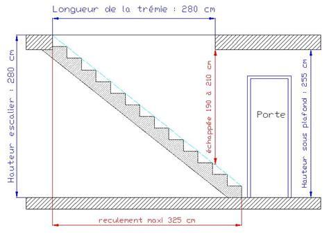 Hauteur Sous Plafond Standard by Dimensions D Un Escalier