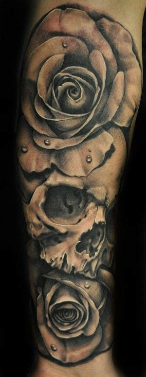 skulls and roses tattoo sleeve best 25 skull tattoos ideas on mandala