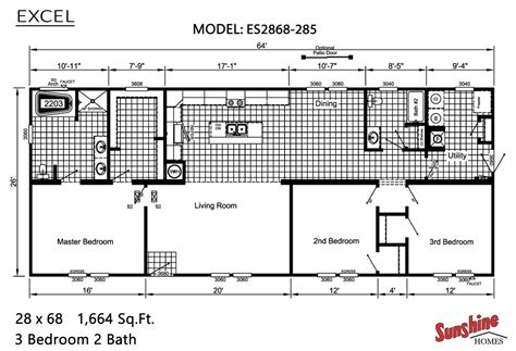 excel layout design excel es2868 285 by cedar creek homes mo