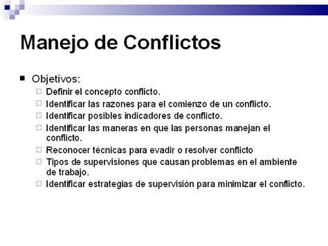 manejo de conflictos manejo de conflictos monografias com