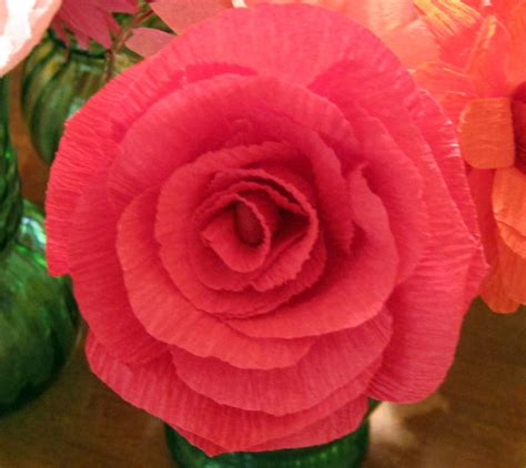 Flower With Crepe Paper - crepe paper flowers