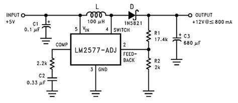 Lm2577s 12 5v to 12 v step up boost voltage regulator with lm2577