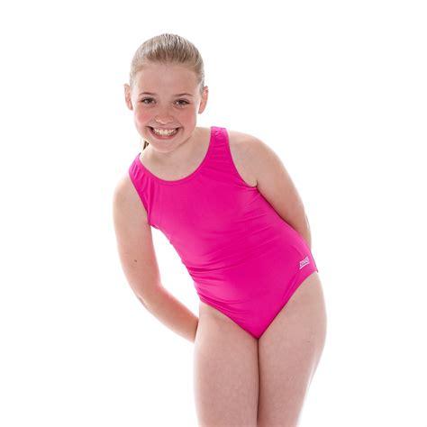 junior girls zoggs junior girls cottesloe sportsback swimsuit pink