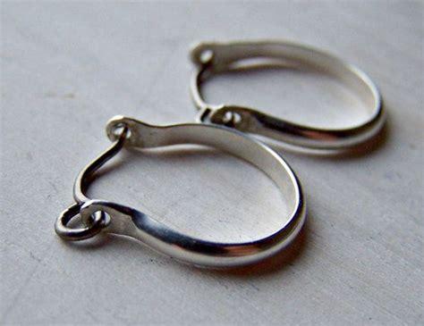 silver earrings titanium earrings niobium earrings